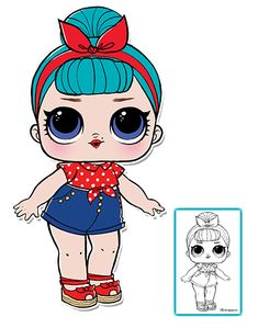 LOL Surprise Doll Coloring Pages – Page 8 – Color your favorite LOL Surprise Doll! Animal Coloring Pages, Coloring Sheets, Doll Party, Lol Dolls, 8th Birthday, Surprise Birthday, Doll Crafts, Doll Face, Big Eyes