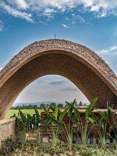 Rwanda cricket stadium by Light Earth Designs