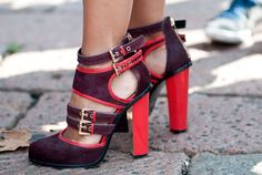 What a great use of color in the heel and lining! It's a perfect way to spice up any outfit. Karl-Edwin Guerre  - MarieClaire.com