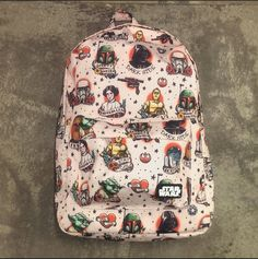 STAR WARS COLOR COMIC PRINT BACKPACK - http://loungefly.com