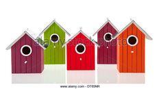 Homemade Bird Houses Stock Photos & Homemade Bird Houses Stock ...