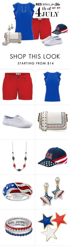 """Red, White and Blue Fashion"" by alina-n ❤ liked on Polyvore featuring Fjällräven, Warehouse, Keds, Marc Jacobs, Kim Rogers, Kate Bissett, Liz Claiborne, redwhiteandblue and july4th"
