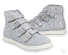Sequin Buckle High Top Sneakers hi hi Girls Sneakers, Girls Shoes, Sneakers Fashion, High Top Sneakers, Shoes Sneakers, Justice Shoes, Justice Clothing, Justice Stuff, Dream Shoes