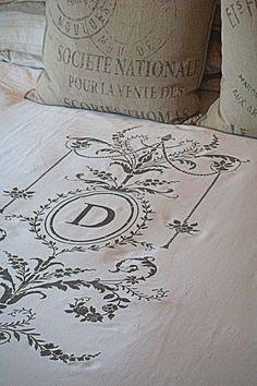 Monogram Duvet Cover -