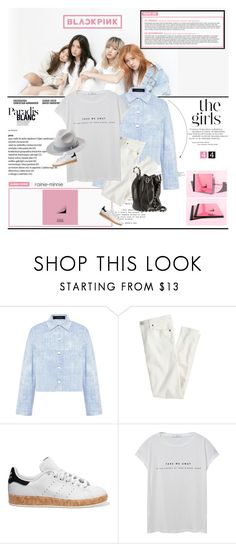 """""""BlackPink[New Girl Group]"""" by rainie-minnie ❤ liked on Polyvore featuring Thakoon, J.Crew, adidas Originals, MANGO and Alexander Wang"""