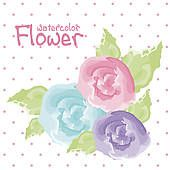 watercolor flower Watercolors, Watercolor Paintings, Free Vector Art, Watercolor Flowers, Photoshop, Illustration, Water Colors, Floral Watercolor, Illustrations
