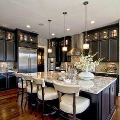 Kitchen Stylish Using Custom Kitchen Designs