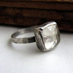 Handmade sterling silver faceted crystal by littlebugjewelry, $98.00
