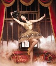 Circus Performer - bursting out of cage metaphor .. more pin up style, and juggling or something