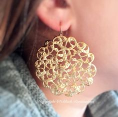 NEW  Lagertha Earrings  14/20 Gold Filled Ear by blackpersimmons