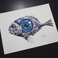 #fish #codexseraphinianus #tattoodesign #copic #copicmarkers #darkart #chile #evilshit #pez #illustration #ilustracion