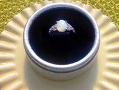 opal russian ZC silver ring. size 10. by Rossanascorner on Etsy, $38.50