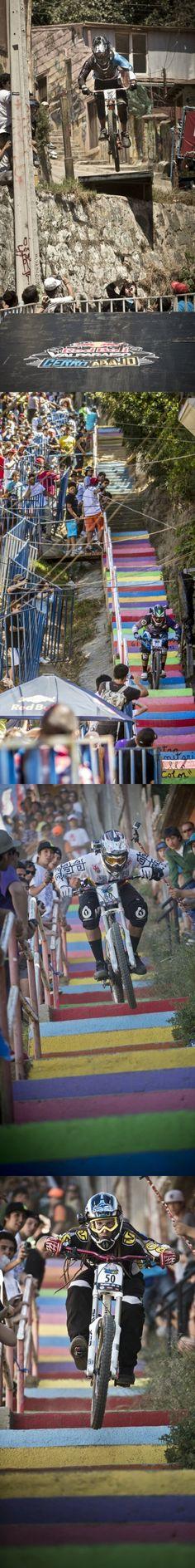 A colorful race #redbull #mtb #downhill #valparaiso