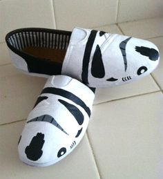 Star Wars Stormtrooper TOMS @Kate White if I could have these I would be 100% willing to finally buy a pair of toms