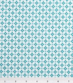 divider fabric...quilter's showcase round tile teal and white...1/4 a yd... $3.49