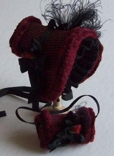 1/12 dollshouse handmade winter bonnet and by JustForYouMiniatures, $24.00