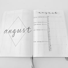 AUGUST in my Bullet Journal. With the baby on the way, I know I won't have time to set up. #bulletjournal #augustspread #bujo…