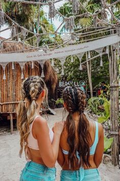 Carmella Top The Ultimate Girls' Guide to Tulum – Tripping with my Bff hairstyles for school The Ultimate Girls' Guide to Tulum Cute Hairstyles For Teens, Teen Hairstyles, Hairstyles For Beach, School Hairstyles, Travel Hairstyles, Evening Hairstyles, Modern Hairstyles, Fancy Hairstyles, Hairstyles For Gymnastics