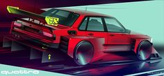 Audi 80 not the most popular but the most simple, perfect for track day or hillclimbs. Just some fun with Photoshop rendering angry boxes. Audi 1, Audi Sport, Car Sketch, Car Drawings, Retro Cars, Automotive Design, Electric Cars, Cool Bikes, Audi Quattro