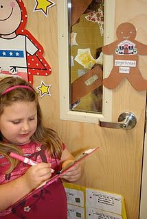 Catch the gingerbread man. Sight words or math facts. Could change for first grade