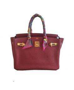 Bolsa Hermès Birkin 35 Couro Togo  Vermelha