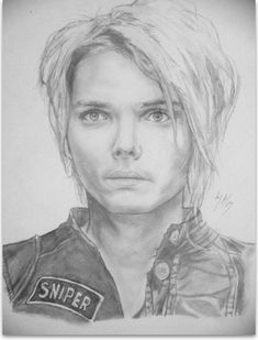 Drawing/Drawing in general/Pencil crayons/Paper/Figurative/Realism/Portrait Where To Sell, Romance Art, Drawing Drawing, Gerard Way, Favorite Words, Selling Art, My Chemical Romance, Crayons, Lovers Art