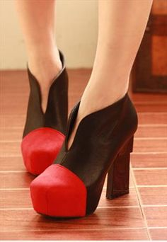 Elegant Boots in Red  The shoe mafia definitely exists :D