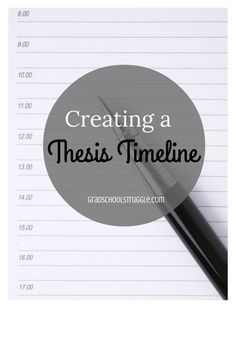 Creating a Thesis Timeline www.gradschoolstruggle.com