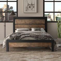 Best Platform Beds, Queen Platform Bed, Platform Bed Frame, Upholstered Platform Bed, Rustic Wood Furniture, Western Furniture, Cabin Furniture, Wood Wood, Metal Furniture