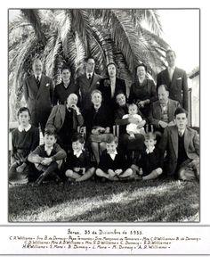 JEREZ DE LA FRONTERA.  Las Familias Domecq Williams y Mora-Figueroa Williams en 1951.