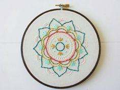 Mandala Embroidery Hoop Art Hand Embroidered by cinderandhoney