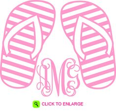 PERSONALIZED FLIP FLOP DECAL #flipflops #decal #summer #personalized #monogram #cute #sticker #shopddp