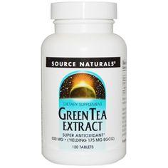 Source Naturals, Экстракт зелёного чая, 500 мг, 120 таблеток  Use Rewards Code CVQ516 to get $5 off your 1st order at iHerb.