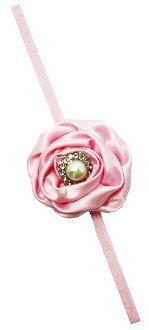Light Pink Satin Fabric Flower with Elastic Headband Skinny Headbands, Elastic Headbands, Pink Satin, Stylish Dresses, Satin Fabric, Fabric Flowers, Princess, Elegant Dresses, Burlap Flowers