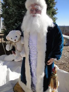 RESERVED LISTING Victorian Santa Art Doll OOAK