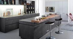 Leicht präsentiert die Beton-Front - Küchen Adrian