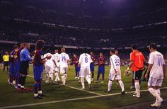 After winning the league in 2008, Real Madrid were given a guard of honour at the Bernabeu by arch-rivals Barcelona.