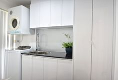 Can you keep your (white) clothes as white as this laundry? 3d Design Software, Laundry Design, Drawer Runners, Work Surface, Can Design, Stacked Washer Dryer, Kitchen Designs, Washing Clothes, Perth
