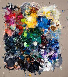 """Secundino Hernández: """"Ohne Titel"""", 2013, Acryl, Gouache, Alkyd, Öl auf Leinwand, 235 x 205 cm (Courtesy der Künstler/Galerie Krinzinger, Wien)"""