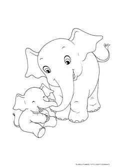 Hand Embroidery Designs, Embroidery Patterns, Quilt Patterns, Art Drawings Sketches, Easy Drawings, Colouring Pages, Coloring Books, Elephant Coloring Page, Baby Animal Drawings