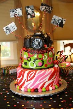 Photo www.marybuffington.com ~ my awesome camera cake! :)