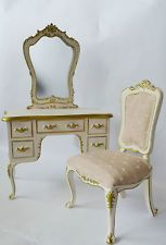 1:6 Scale Furniture Barbie Fashion Royalty Custom Vanity with matching Chair