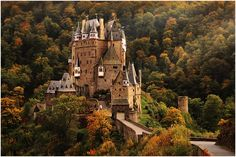 At that time she graced the 500-DM bill, the famous castle pattern near the River Mosel, which was never destroyed and the building was extended again and again - to see here in the soft autumn light.  Uwe Müller