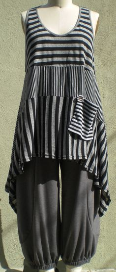 Graphic Art to Wear, Drop Pocket Vest One Size Missy and Plus Lagenlook by r.Browning on Etsy, $55.00