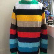 Calypso Christmas Tree Jumper, Christmas Jumpers, Jumper Designs, Sweater Design, Mohair Sweater, Men Sweater, Yarn Colors, Black Stripes