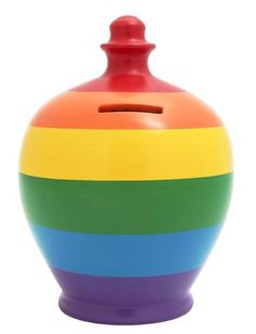 Stripe Money Pot Multi Coloured - D51