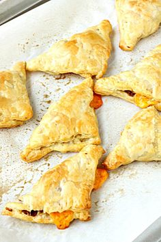 Bacon Cheddar Croissant Turnovers
