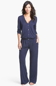 great lounge look  Eberjey Jumpsuit available at #Nordstrom