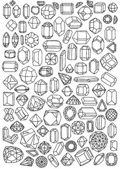 .crystal shapes. There is a mineral that crystallises in each of these forms - and more !!