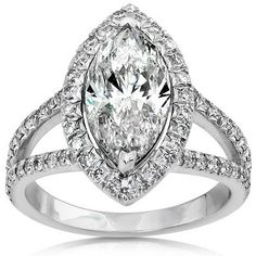 Without the diamonds around the marquise diamond